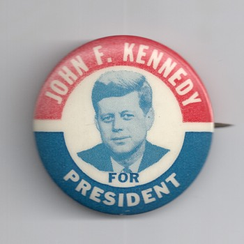 Three J.F.K. and The Kennedy nearest you Pinback's