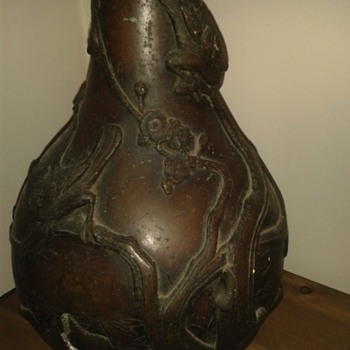 Mystery vase  my husband dug this up years ago  - Asian