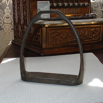 U.S. Calvary Iron Western Saddle Stirrup - Military and Wartime