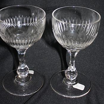 American Brilliant Cut Glass Wines - Glassware