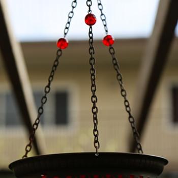 Victorian Hanging Ruby Glass Planter?  - Art Glass