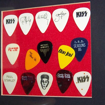 My Used Guitar Pick Collection - Music Memorabilia