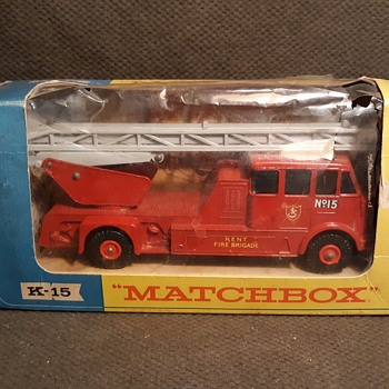 Mature Modular Madness Matchbox Monday K-15 King Size Merryweather Fire Engine - Firefighting