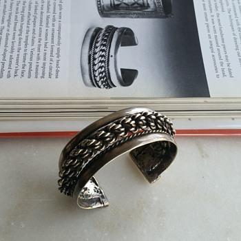 Silver metal Bedouin Siwa cuff - Fine Jewelry