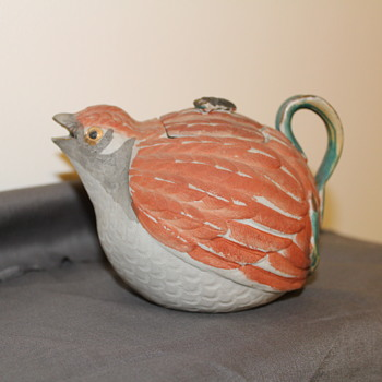 Japanese Banko Quail Teapot - Asian