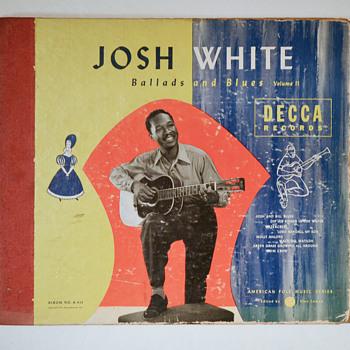 WBW - Josh White - Decca shellac album - Records