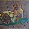 1930's wood carvings by BOB????  folk art