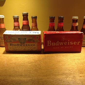 Budweiser salt and pepper shakers  - Bottles