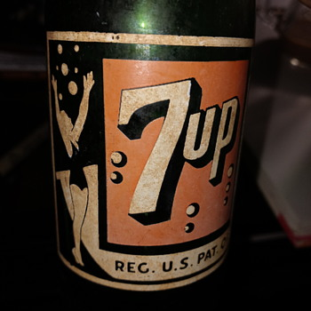 1945 7up bottle Maui Hawaii  - Advertising