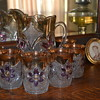 Water pitcher and six glasses