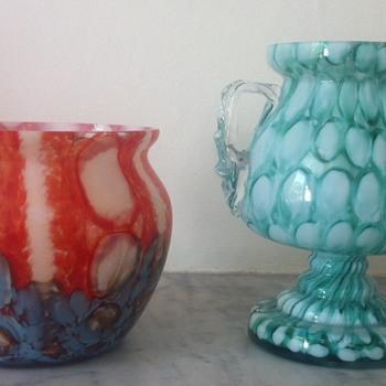 Two Welz pieces - Art Glass