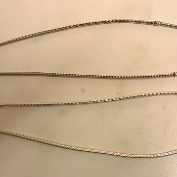Two Pandora Sterling Silver Charm Necklaces (one Oxidized) ...$2.50~!! - Fine Jewelry