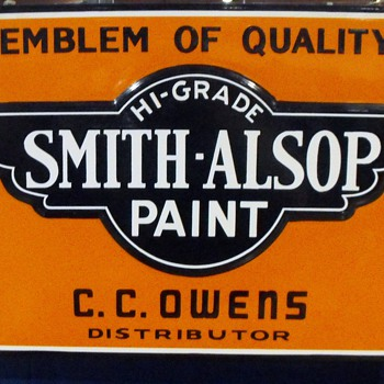 Smith-Alsop porcelain paint sign - Signs