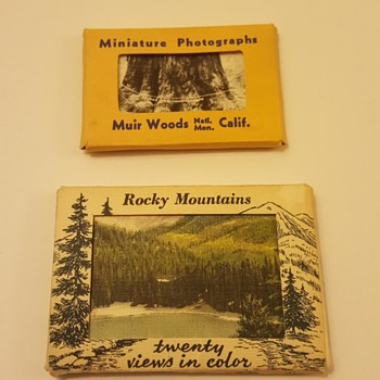 Fun Mini Vintage Photo and Views in Color Postcards - Photographs