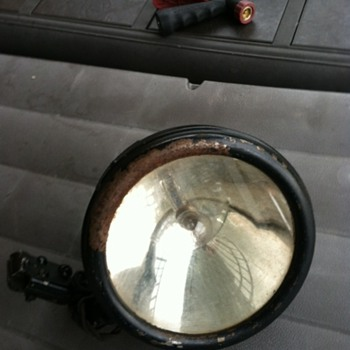 1920s Howe Searchlight with mirror