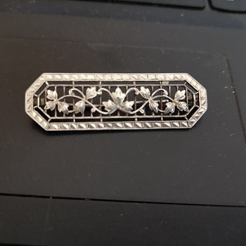 Art Deco silver Brooch - Art Deco