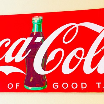 Very large 1948 Bulletin Board metal sign - Coca-Cola