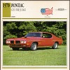 Vintage Car Card - 1970 Pontiac GTO