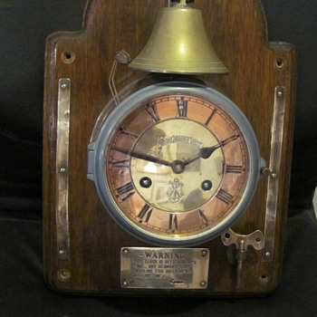 Blue Anchor Line Ships Clock - Clocks