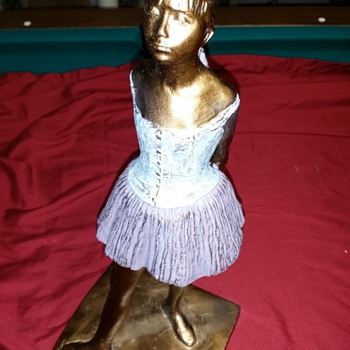 "Degas's Sculpture... signed by ???....original? about 13.5""tall - Fine Art"