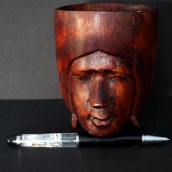 Wooden  Cup - Folk Art