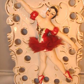 Ballet Dancer Wall Pocket - Pottery