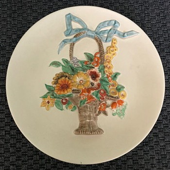 1930s Clarice Cliff My Garden ceramic wall plate - Art Deco