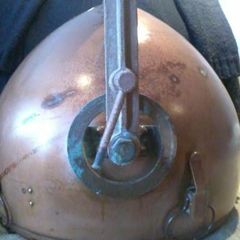 ANTIQUE GE COPPER PENDANT 1800'S - Lamps