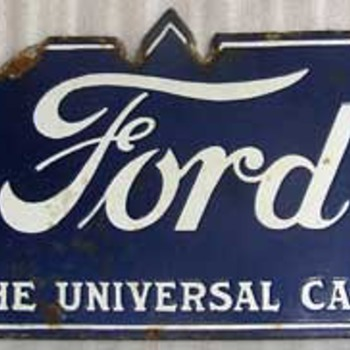 FORD Porcelain sign doublesided - Advertising