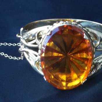 Whiting & Davis Amber Glass Bracelet - Fine Jewelry