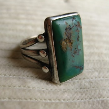 Another group of unmarked sterling and green turquoise!!! - part 5 - yikes! - Fine Jewelry