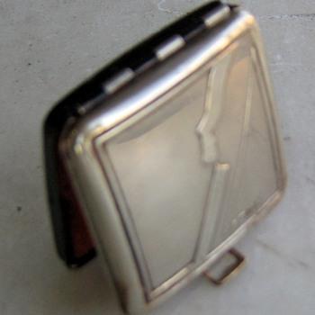 Kronk or Krank silver & enamel rouge pot compact - Accessories