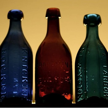 $$$$-Old Pontiled Soda Bottles-$$$$ - Bottles