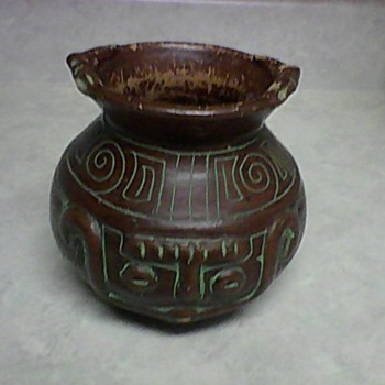 INCA TERRA COTTA DOUBLE FACE POT - Pottery
