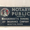 Massachusetts Bonding & Insurance Co. Boston, Mass Antique Tin Sign
