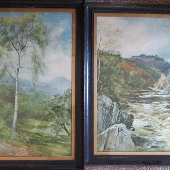 John MacWhirter Pictures - Silver Birch and River - Posters and Prints