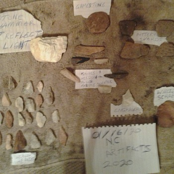 North Carolina native american artifacts  woodland period all found in muddy creek in bethania  - Native American