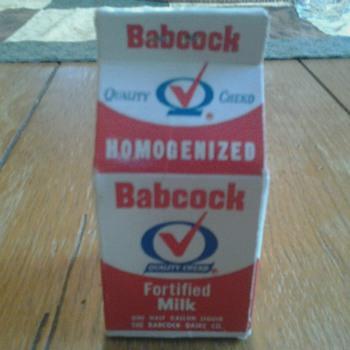 Babcock Dairy Carton Matches - Advertising