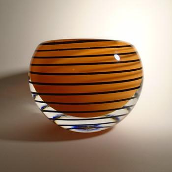 Svoboda AGS art glass bowl -- Czech art glass - Art Glass