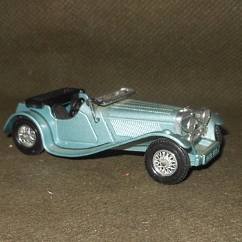 Meticulous Metalic Matchbox Monday Models Of Yesteryear Y-1 1936 Jaguar SS 100 - Model Cars
