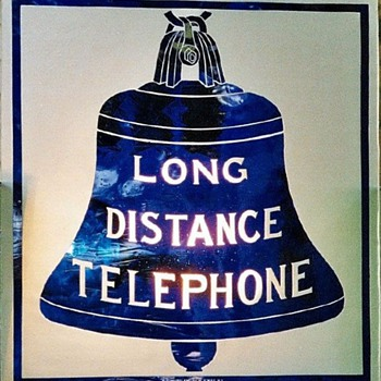 Long Distance Telephone Glass Sign
