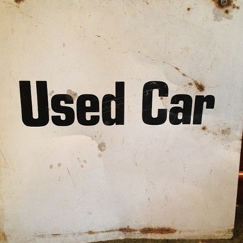 old car lot sign - Signs