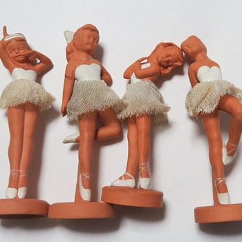 Pottery Terracotta Ballerina Figures- Winscombe Pottery, Banwell, Somerset. - Pottery