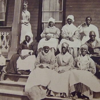 "Stereoview of Ex- Slaves at the ""Colored Home"" in Florida - Photographs"
