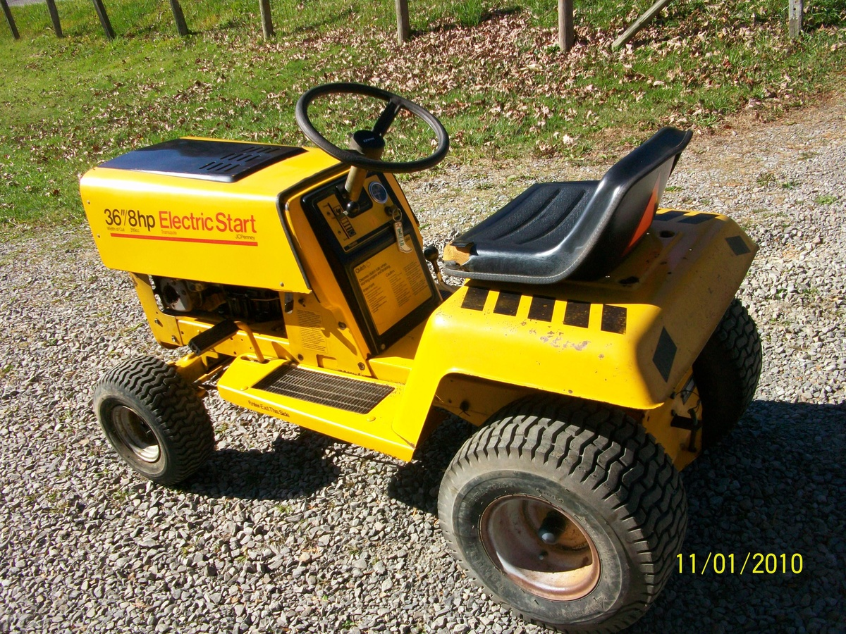 Old Riding Lawn Mowers : Rare jc penney riding mower collectors weekly