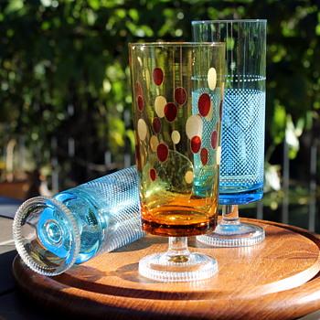 Aderia Glass goblets 1970s - Glassware