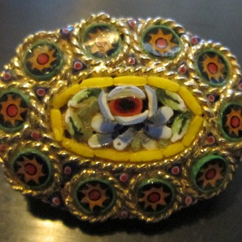 Micro Mosaic Glass Brooch - Fine Jewelry