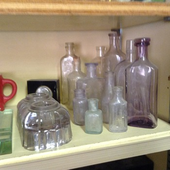 Some old bottles and an inkwell