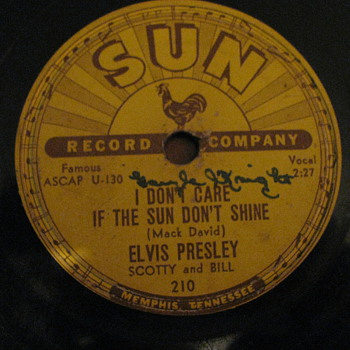 Elvis presley Sun label 78 rpm record - Records