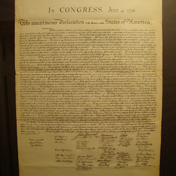 """""""Vintage"""" Copy of~  """" The Declaration of Independence """" July 4 1776  (Mystery!!!) - Paper"""